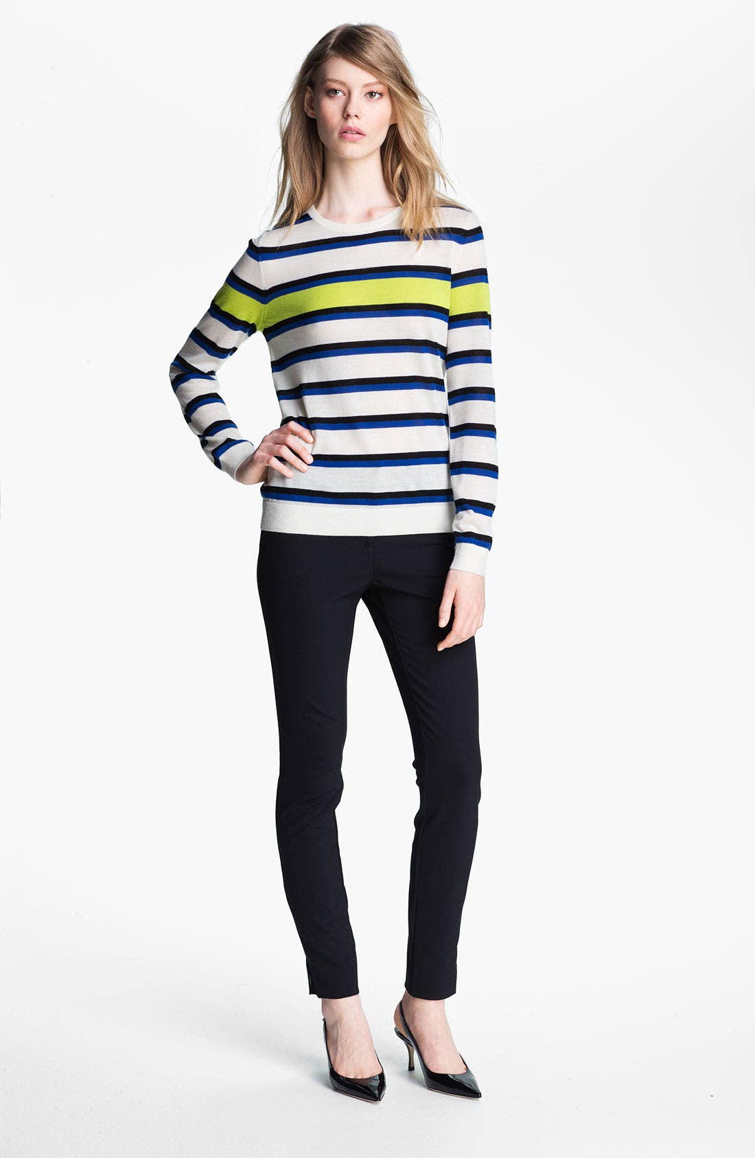 Main Image - Miss Wu 'Sofie' Stripe Cashmere Sweater (Nordstrom Exclusive)