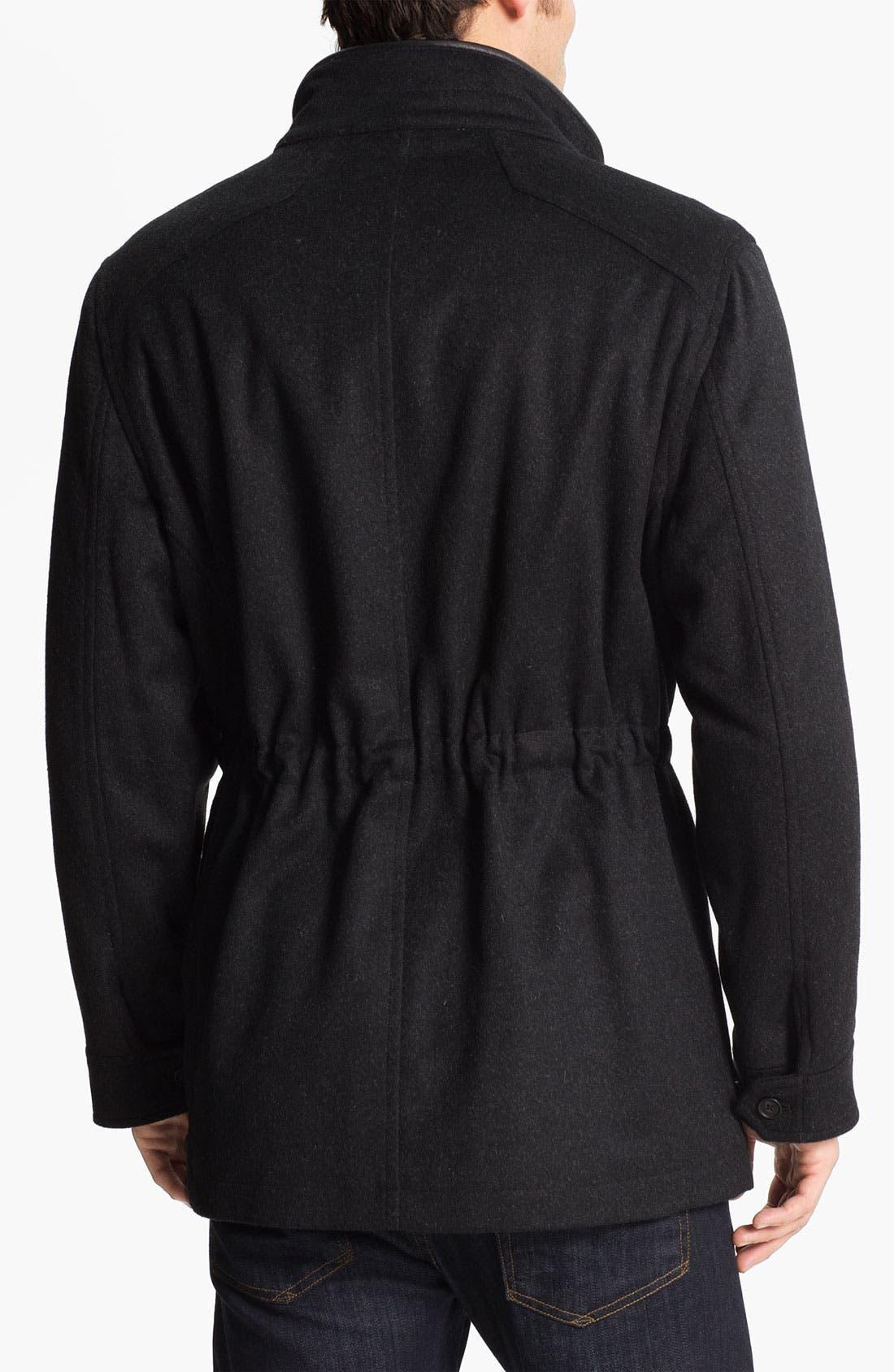 Alternate Image 2  - Tumi Wool & Cashmere Blend Car Coat