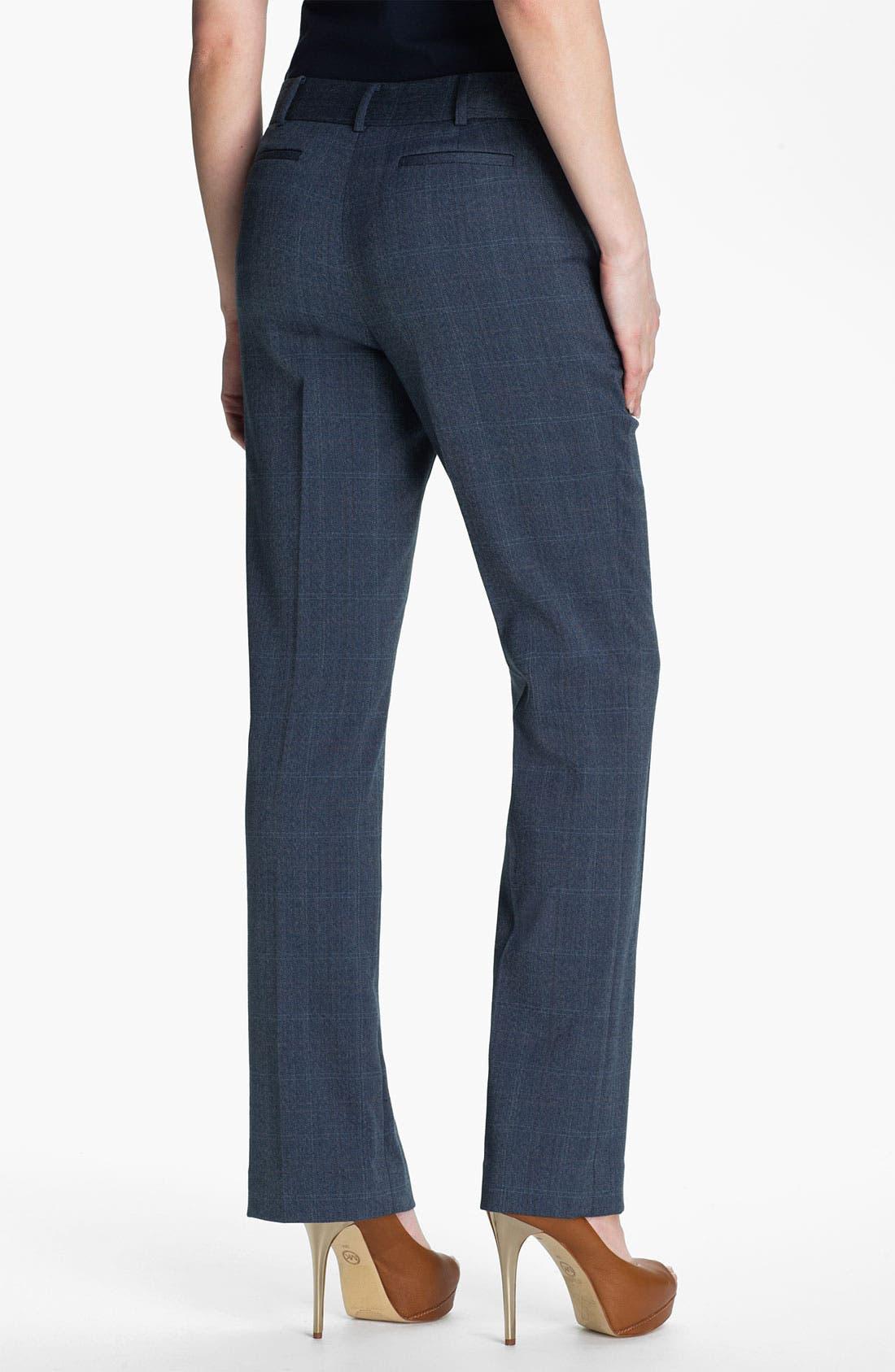 Alternate Image 2  - Anne Klein Patterned Menswear Pants