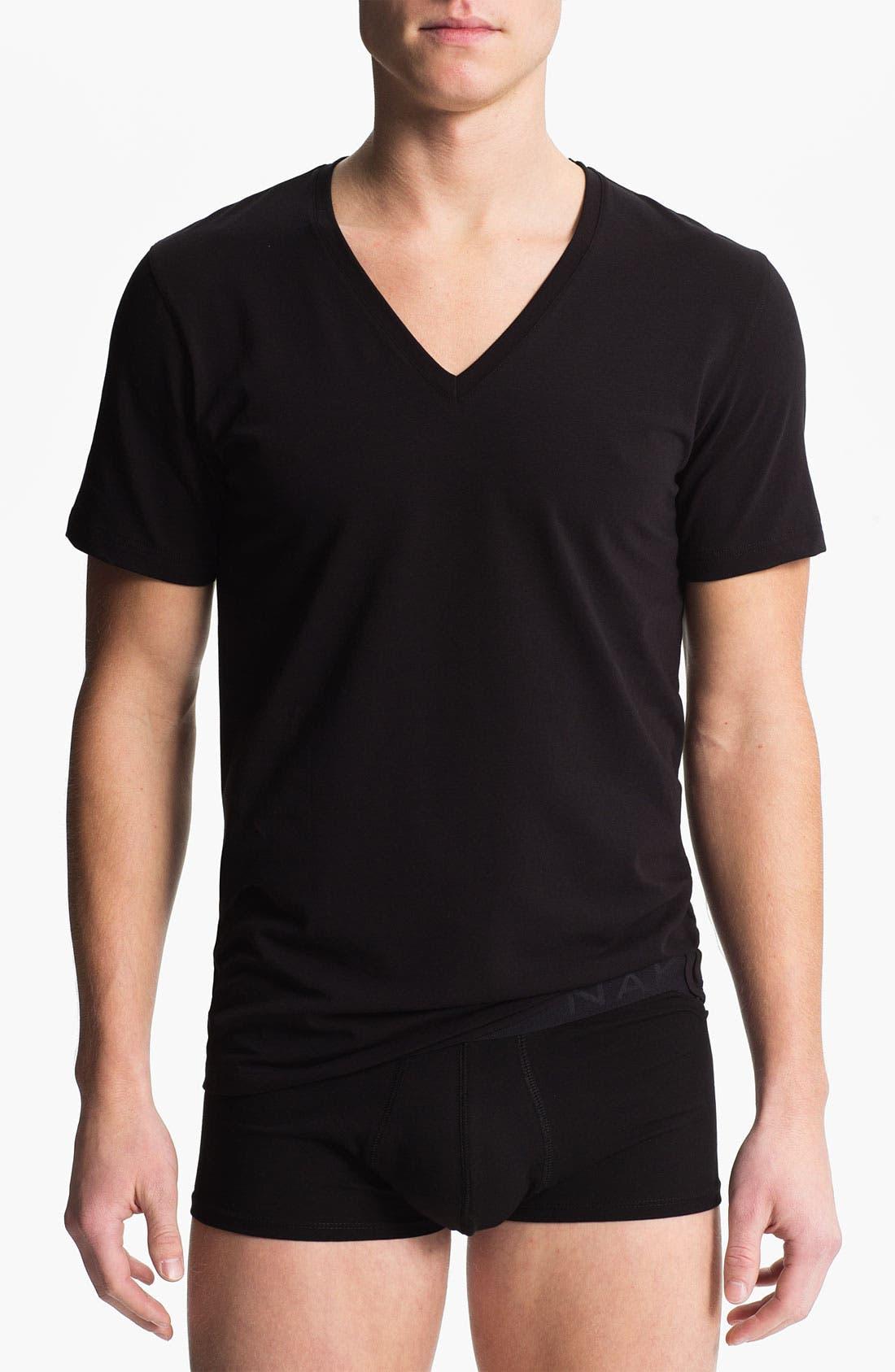 Main Image - Naked Deep V-Neck T-Shirt