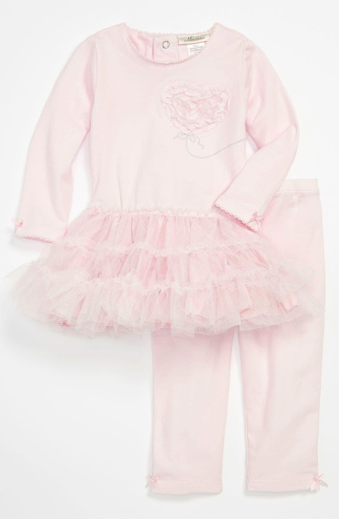 Alternate Image 1 Selected - Miniclasix Top & Leggings (Infant)