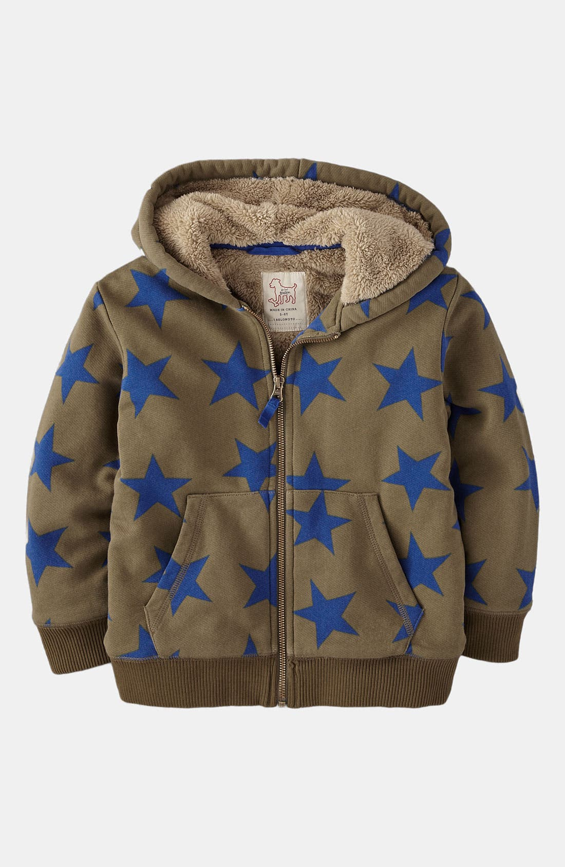 Main Image - Mini Boden Hoodie (Little Boys & Big Boys)