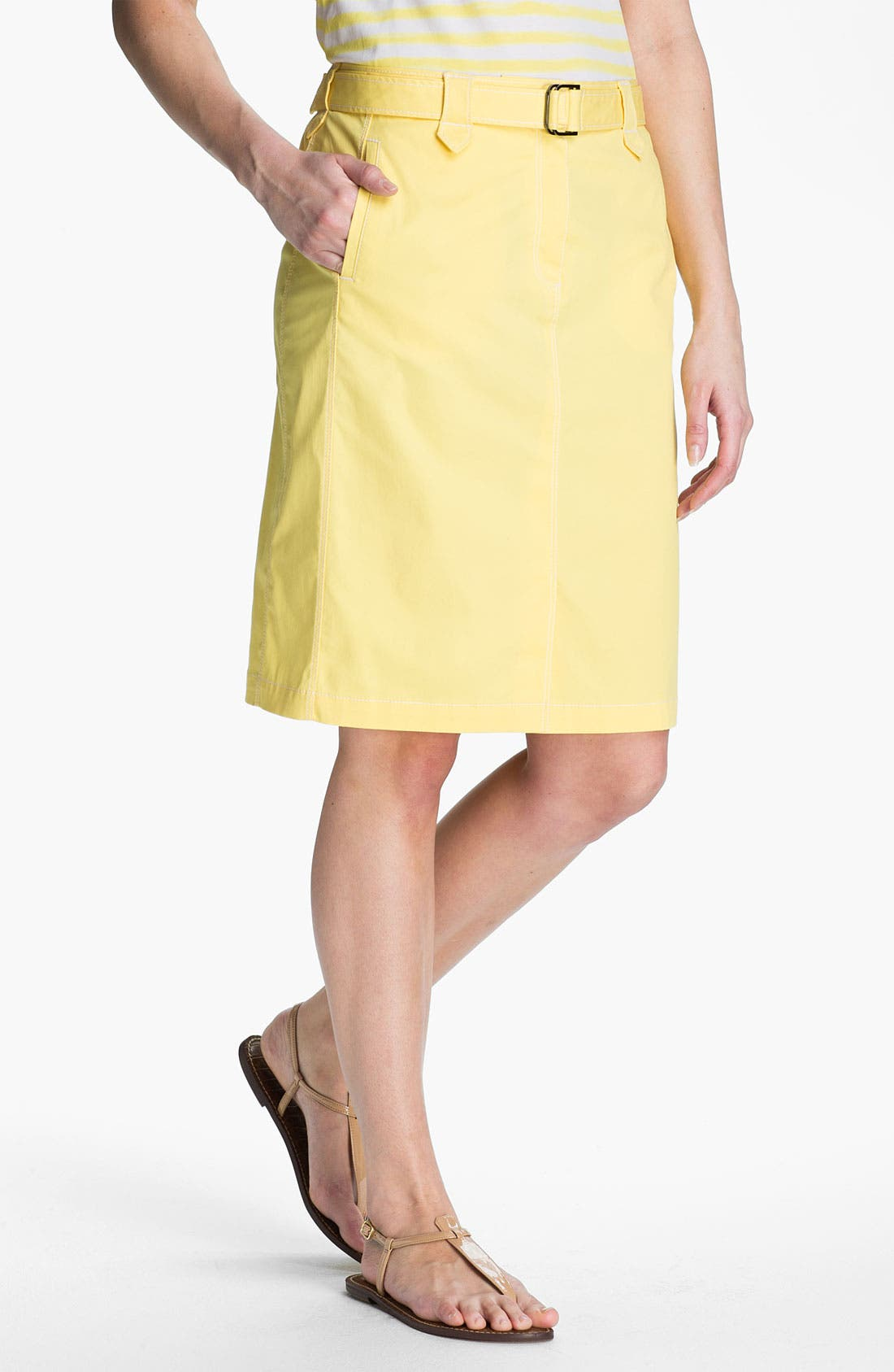 Alternate Image 1 Selected - Lafayette 148 New York Twill Skirt