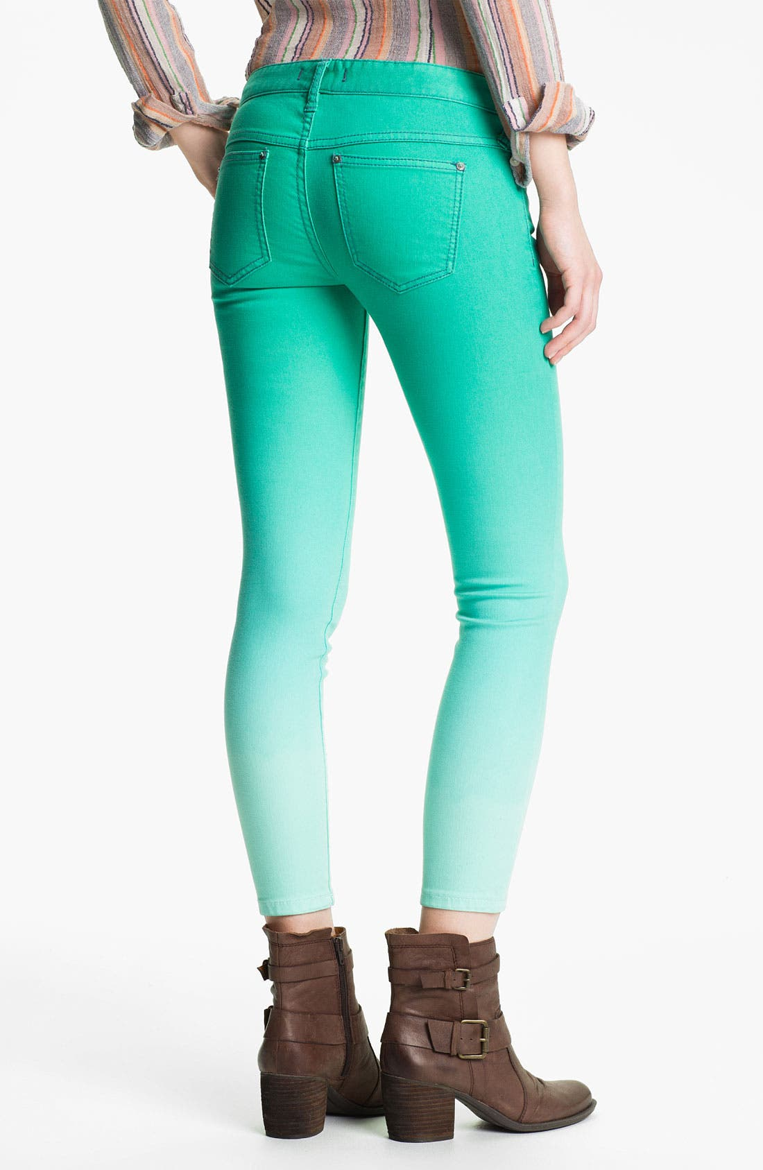 Alternate Image 2  - Free People Ombré Skinny Jeans (Graphite)