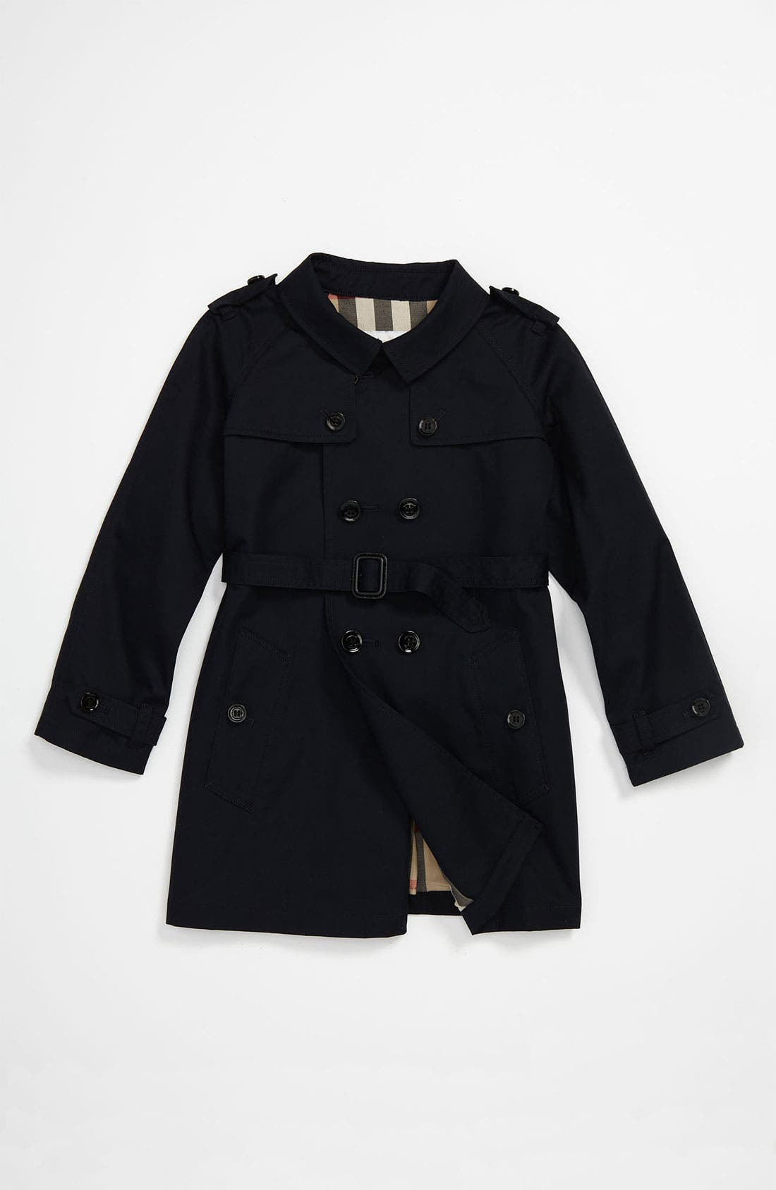 Alternate Image 1 Selected - Burberry Double Breasted Trench (Toddler)