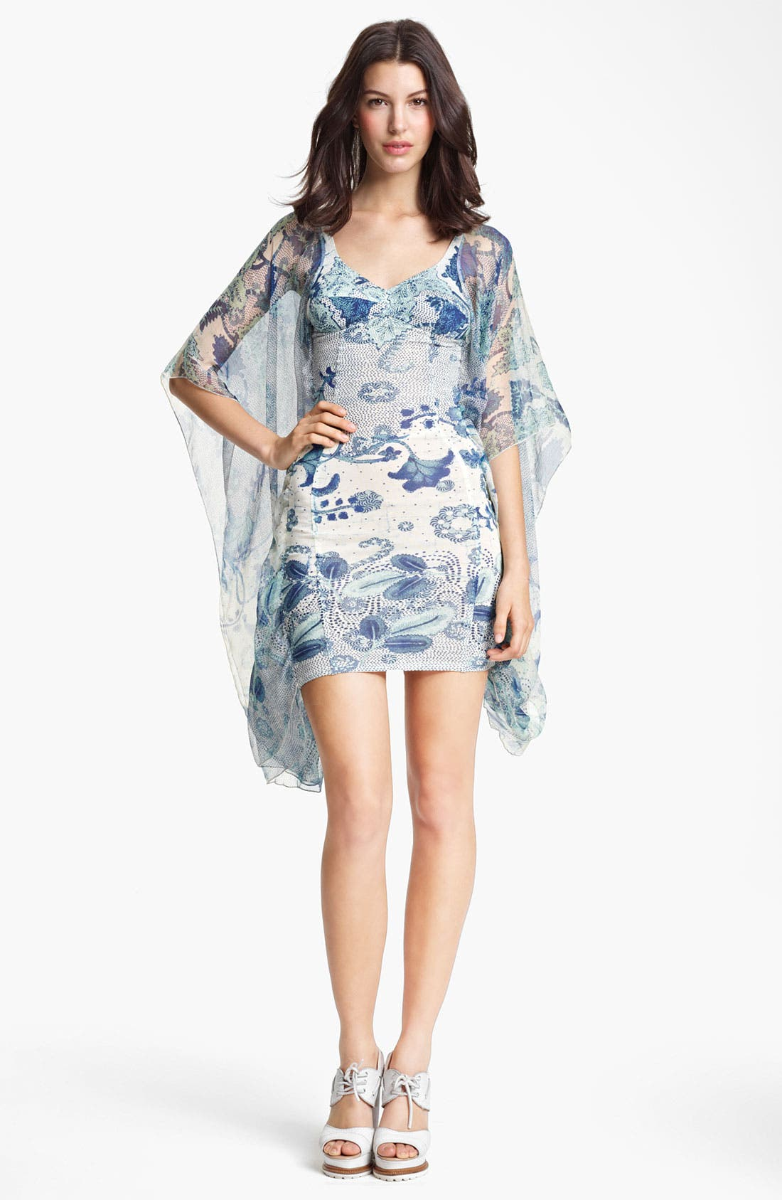 Alternate Image 1 Selected - Jean Paul Gaultier Fuzzi Abstract Print Batwing Sleeve Dress