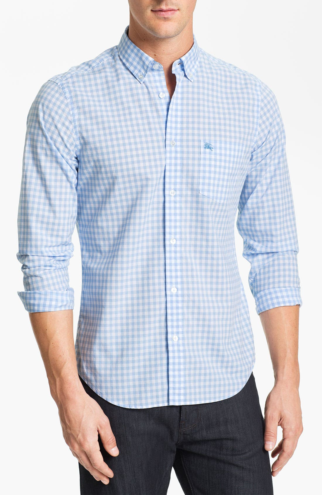 Alternate Image 1 Selected - Burberry Brit 'Fred' Gingham Check Poplin Sport Shirt