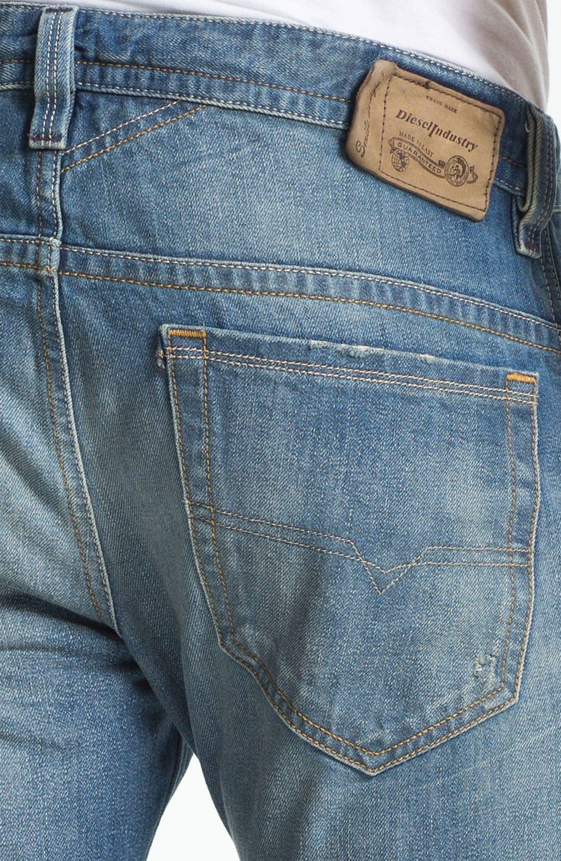 Alternate Image 4  - DIESEL® 'Thavar' Slim Straight Leg Jeans (0806P)