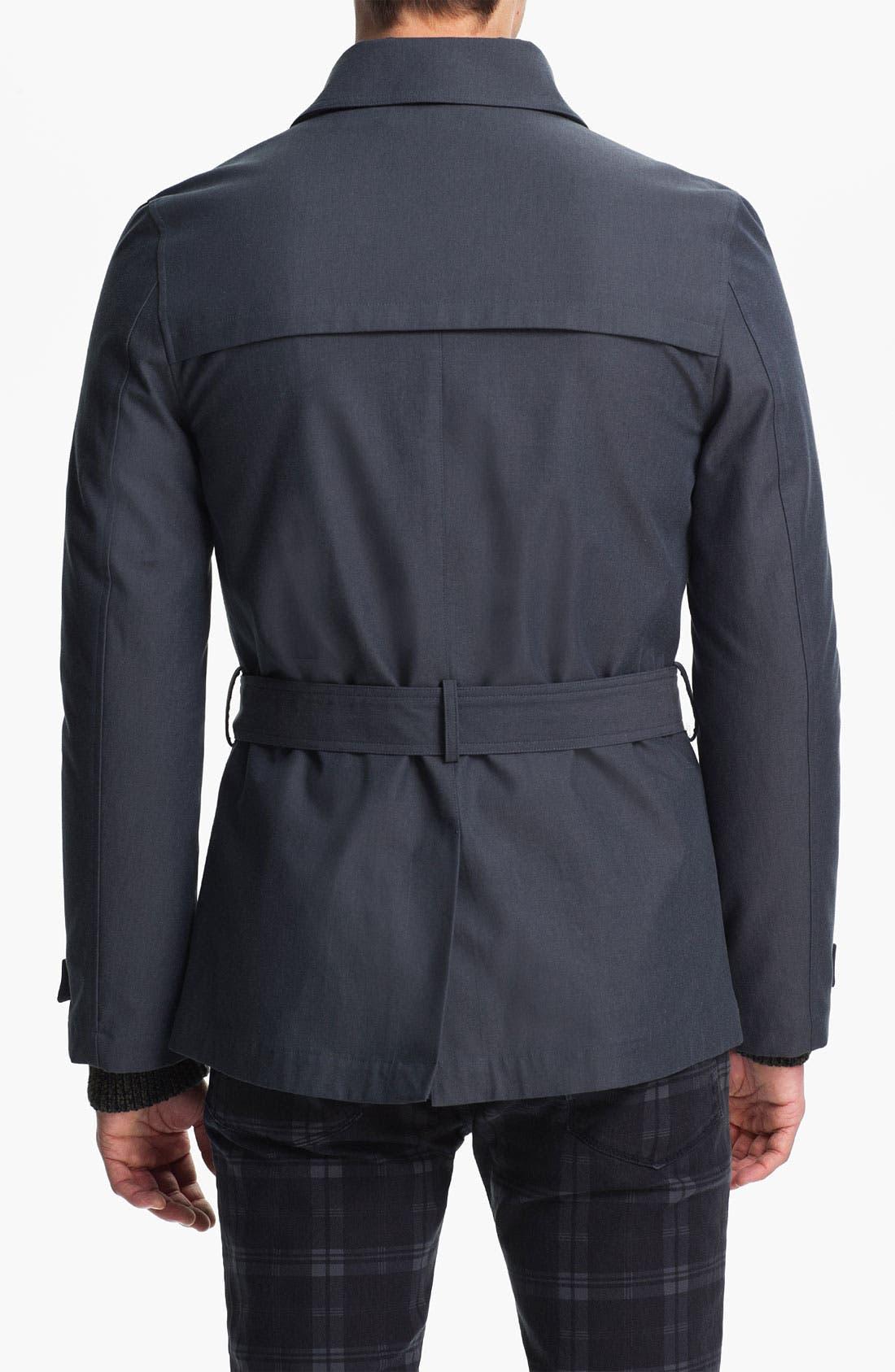 Alternate Image 2  - Topman Double Breasted Mac Jacket