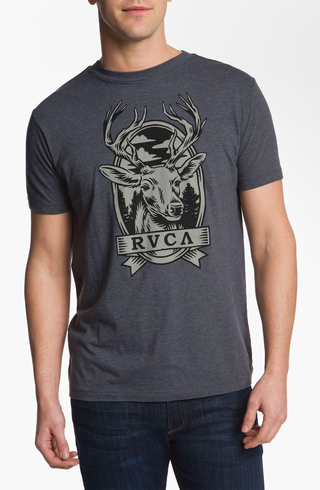 Alternate Image 1 Selected - RVCA 'Deer Head' T-Shirt