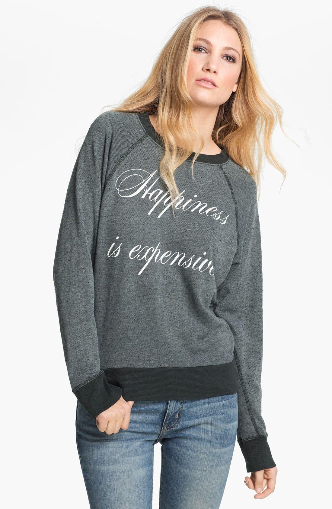 Main Image - Wildfox 'Happiness Is Expensive' Graphic Sweatshirt