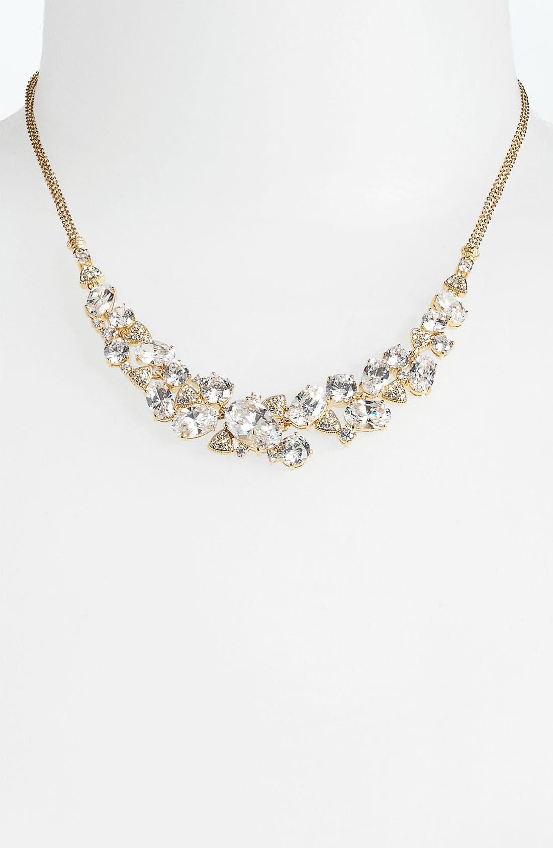 Main Image - Nadri Cubic Zirconia Cluster Frontal Necklace (Nordstrom Exclusive)