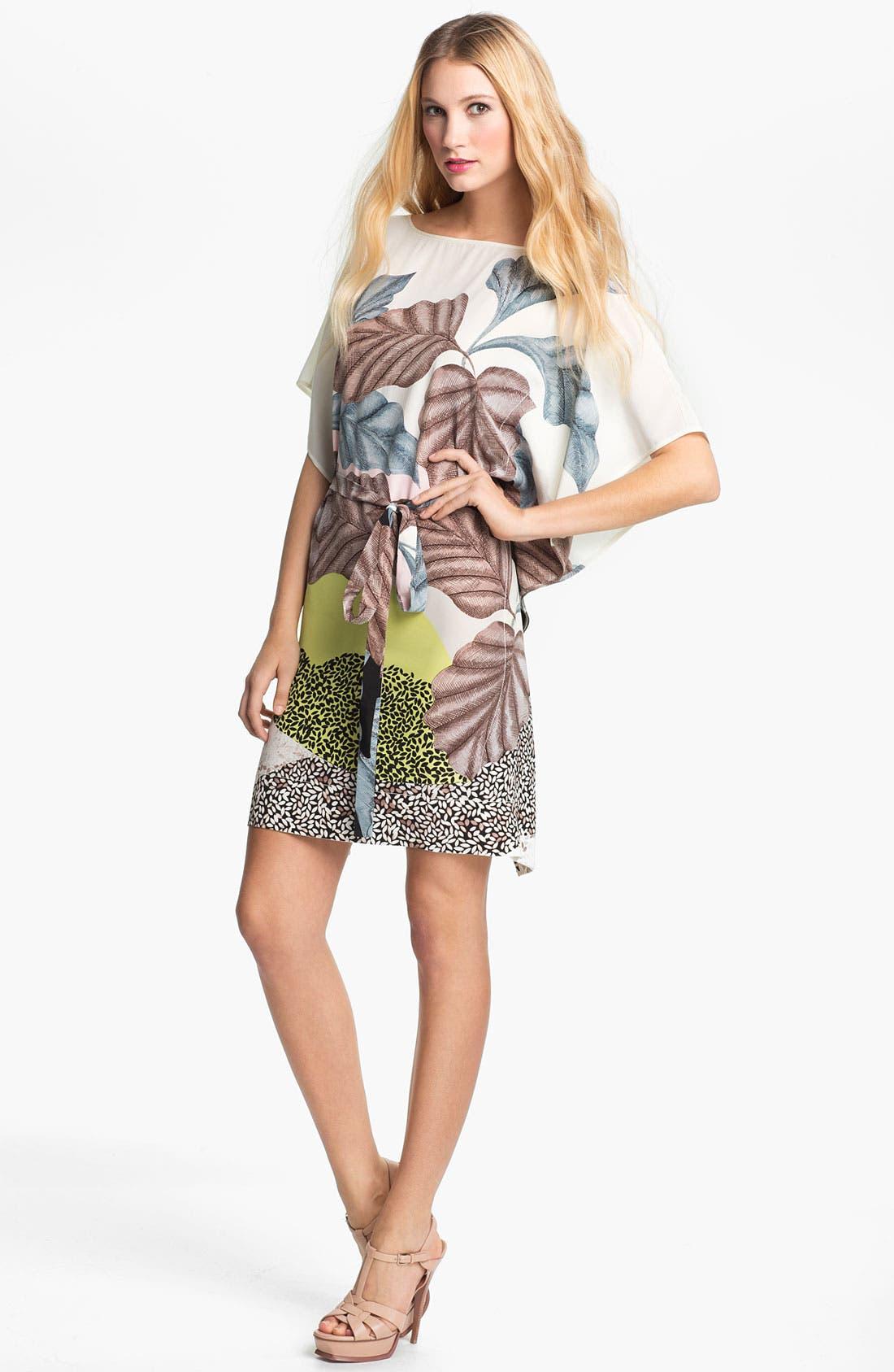 Alternate Image 1 Selected - Diane von Furstenberg 'Diane Hanky' Print Silk Dress