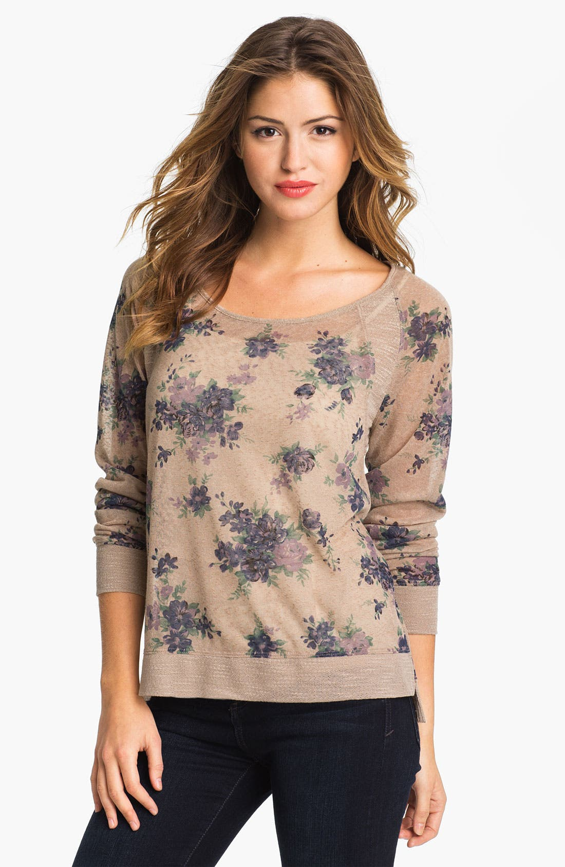 Alternate Image 1 Selected - Olivia Moon Floral Print Pullover