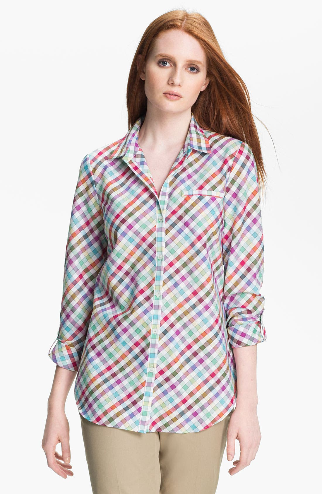 Alternate Image 1 Selected - Lafayette 148 New York 'Felice' Shirt