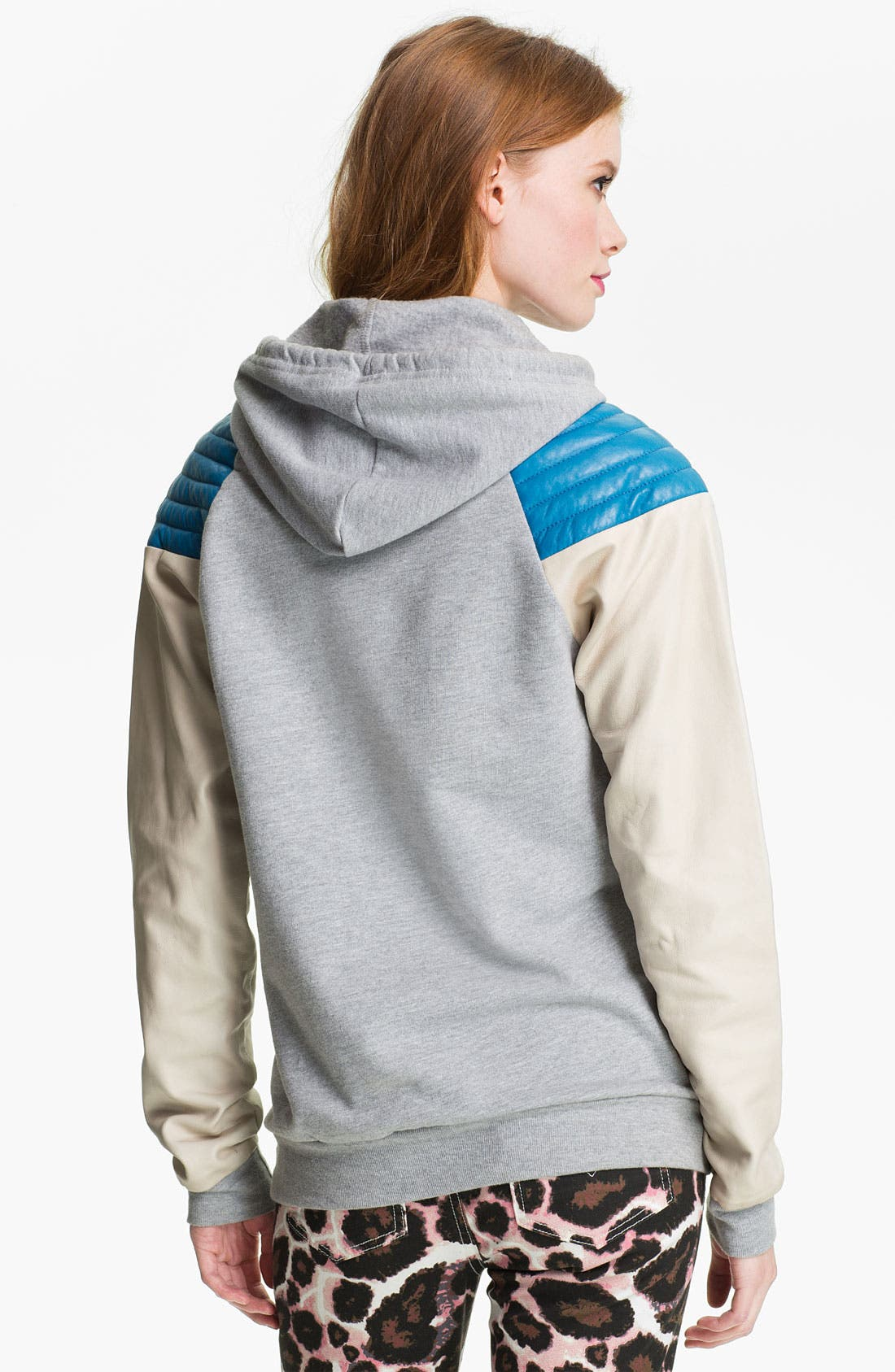 Alternate Image 2  - Rebecca Minkoff Quilted Leather Shoulder Hoodie