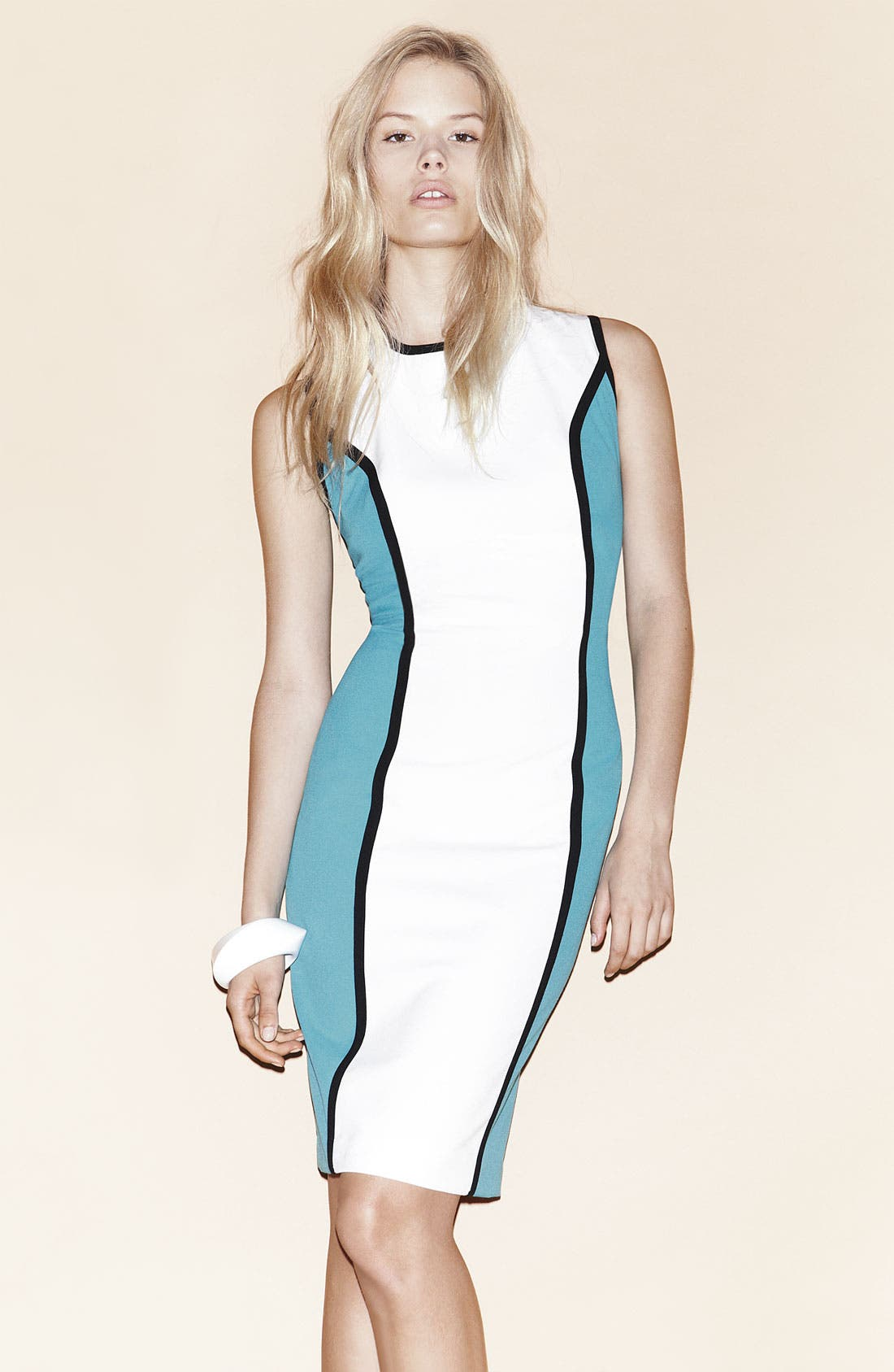 Alternate Image 4  - Calvin Klein Colorblock Sheath Dress