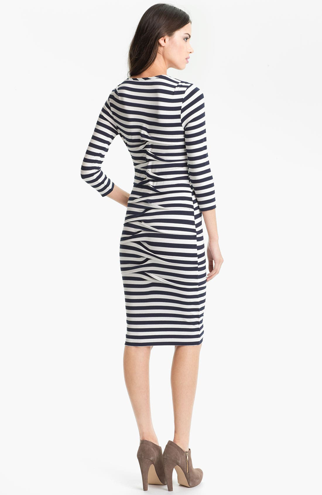 Alternate Image 2  - Nicole Miller Stripe Jersey Sheath Dress