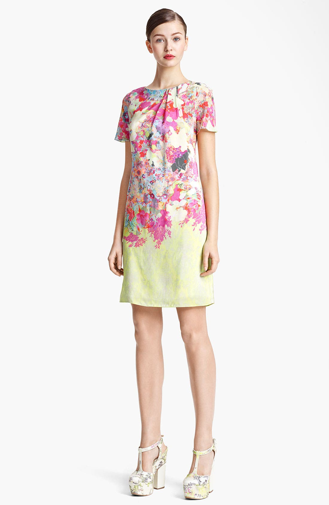 Alternate Image 1 Selected - Erdem 'Mercy' Print Silk Crepe Dress