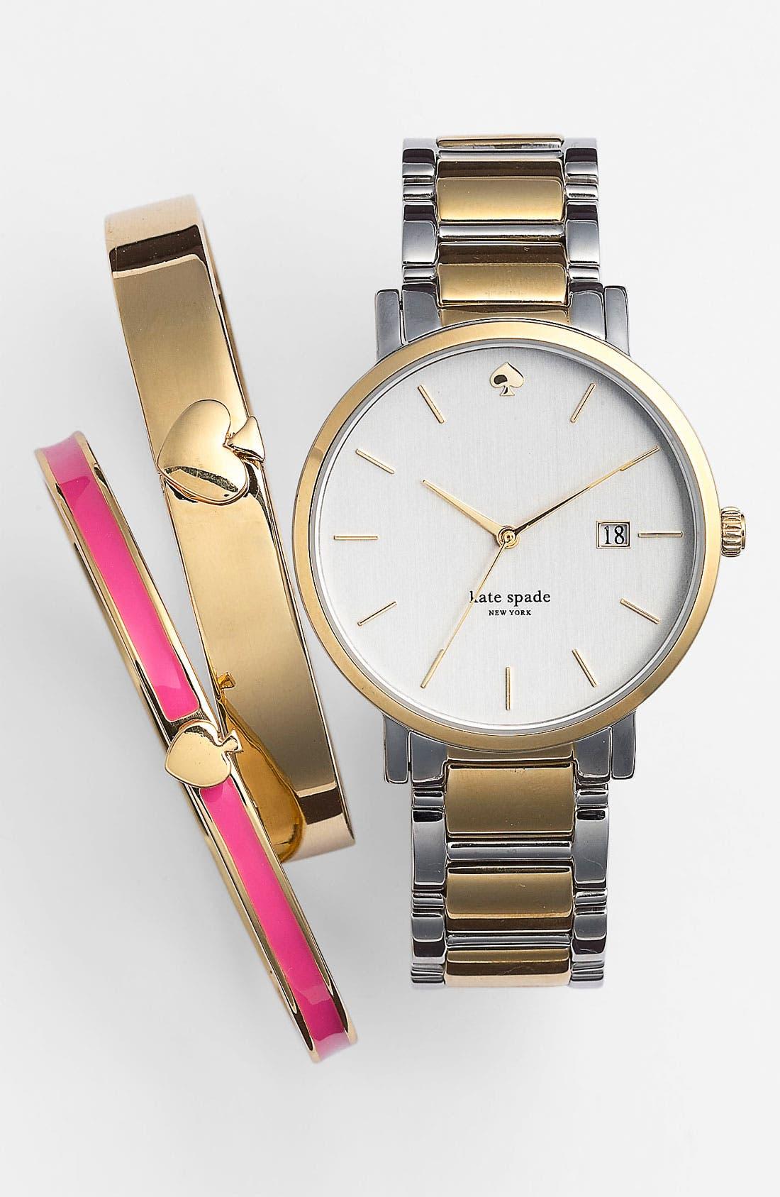 Alternate Image 4  - kate spade new york 'gramercy' bracelet watch, 34mm