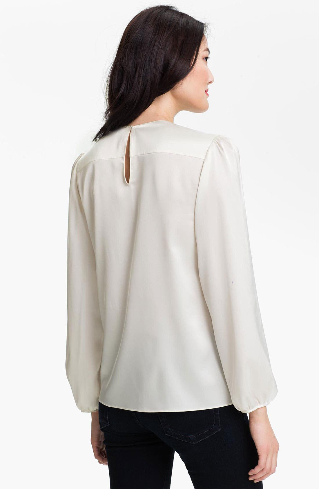 Alternate Image 2  - Vince Camuto Pleat Front Blouse