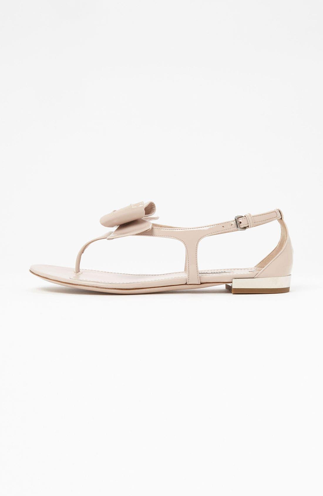 Alternate Image 4  - Miu Miu T-Strap Bow Sandal