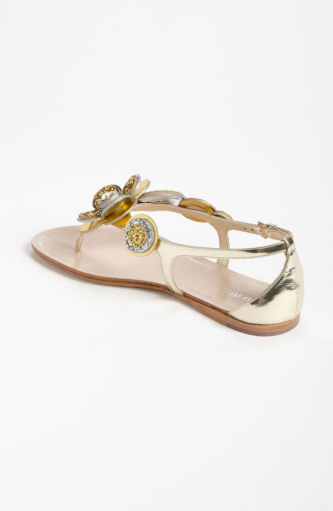 Alternate Image 2  - Miu Miu Flower Thong Sandal