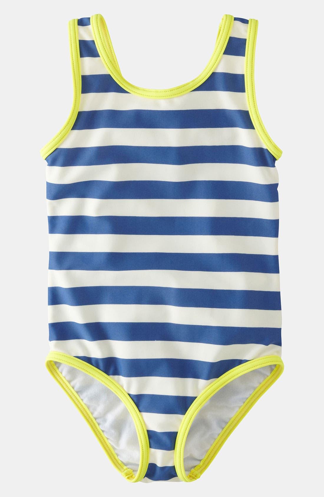 Main Image - Mini Boden One Piece Swimsuit (Little Girls & Big Girls)