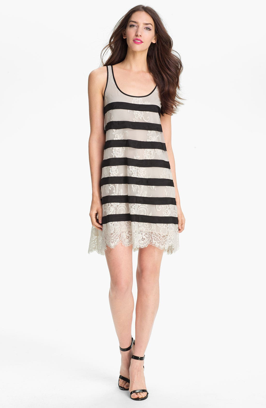 Main Image - BCBGMAXAZRIA 'Augustin' Knit Trapeze Dress