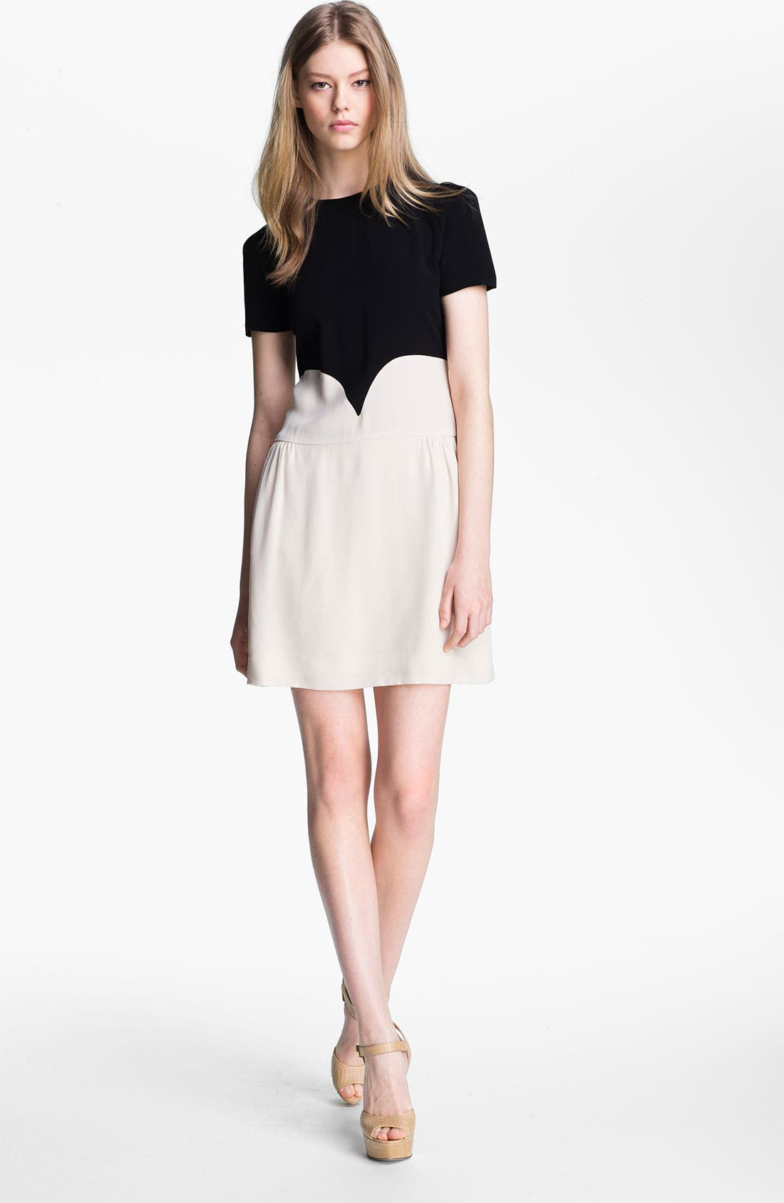 Main Image - Victoria, Victoria Beckham Satin Backed Crepe Dress