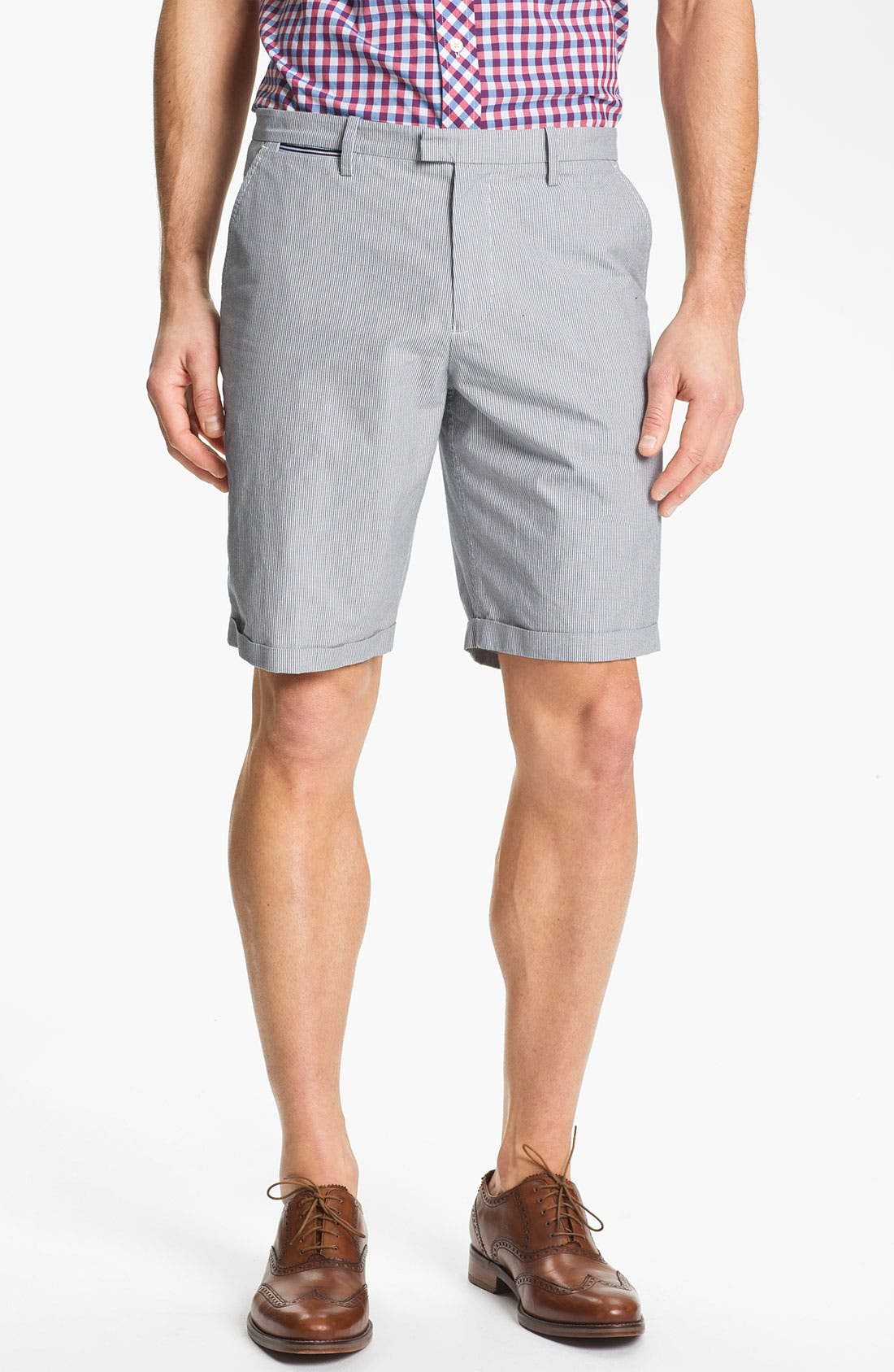 Alternate Image 1 Selected - Fred Perry Flat Front Shorts