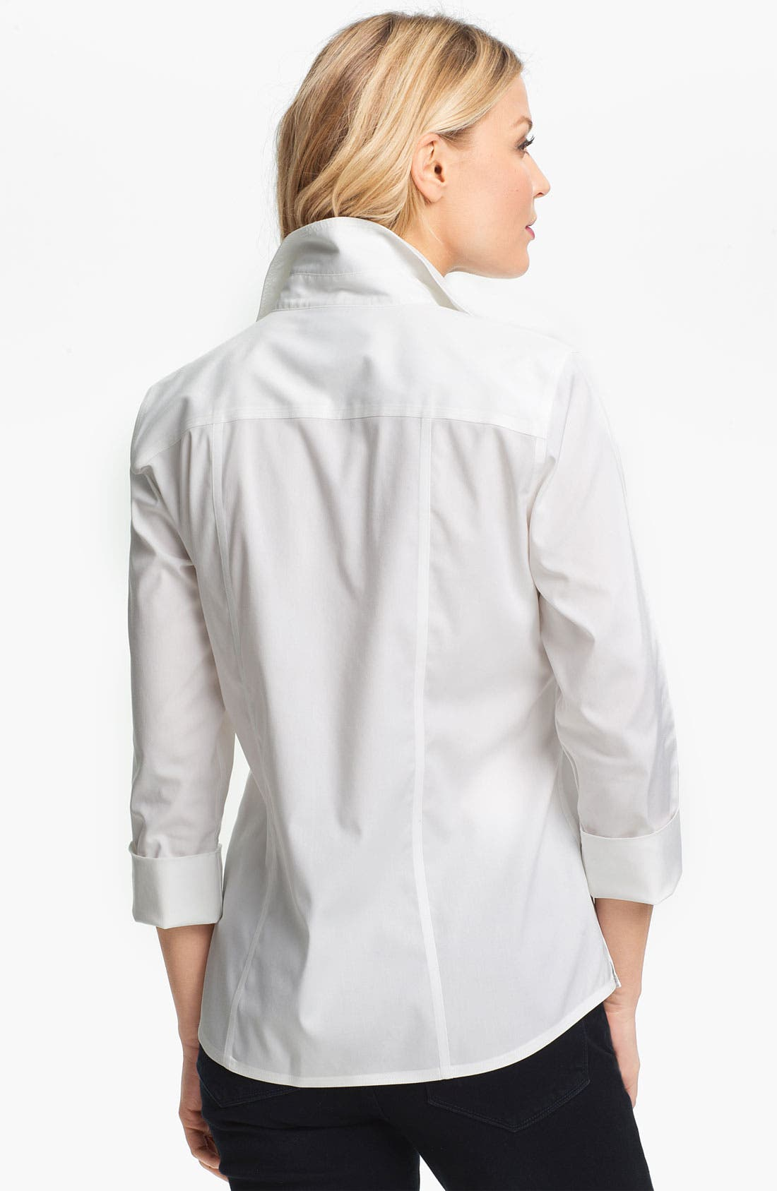 Alternate Image 2  - Foxcroft Three Quarter Sleeve Shirt