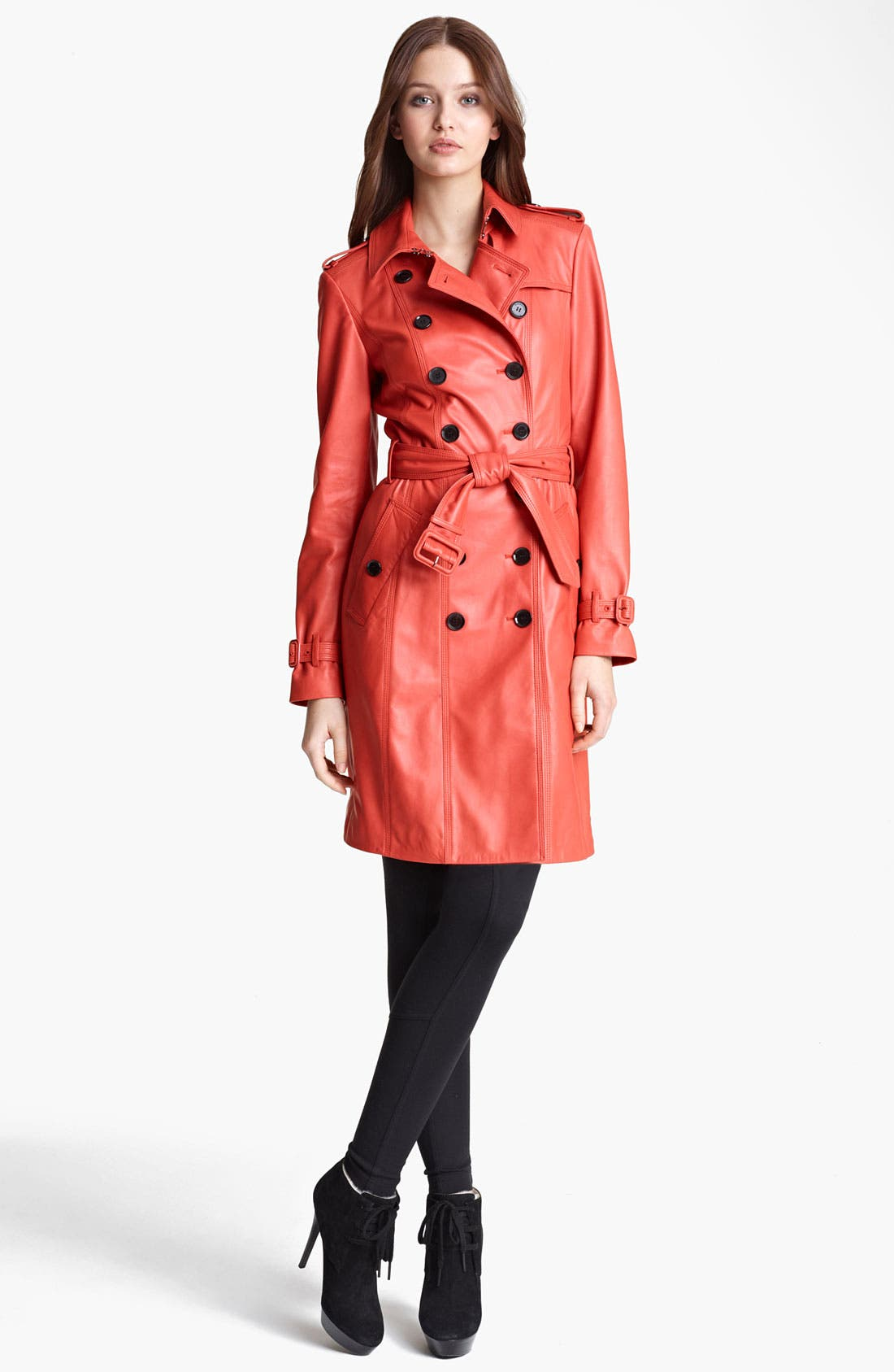 Main Image - Burberry London Lightweight Leather Trench Coat