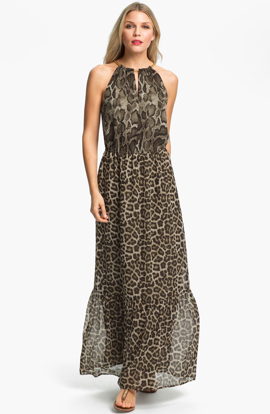 Main Image - MICHAEL Michael Kors 'Mamba' Print Maxi Dress