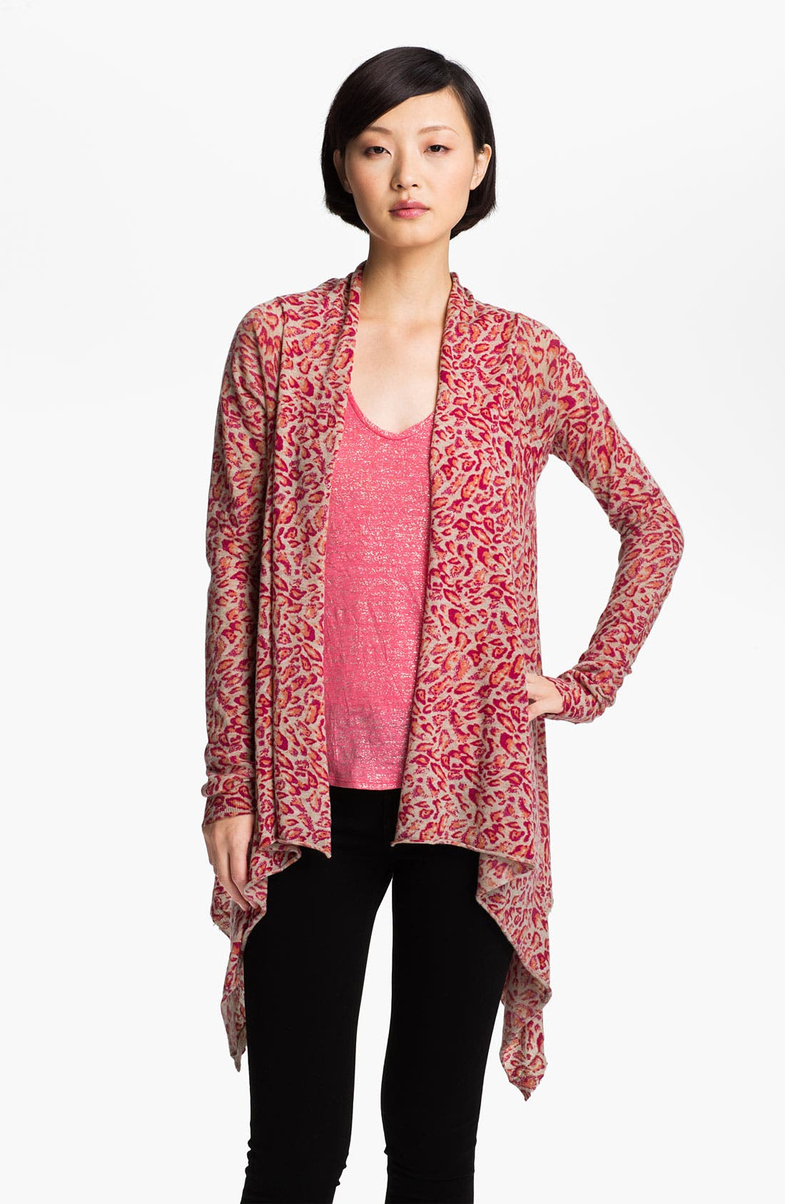 Alternate Image 1 Selected - Zadig & Voltaire Print Cashmere Cardigan