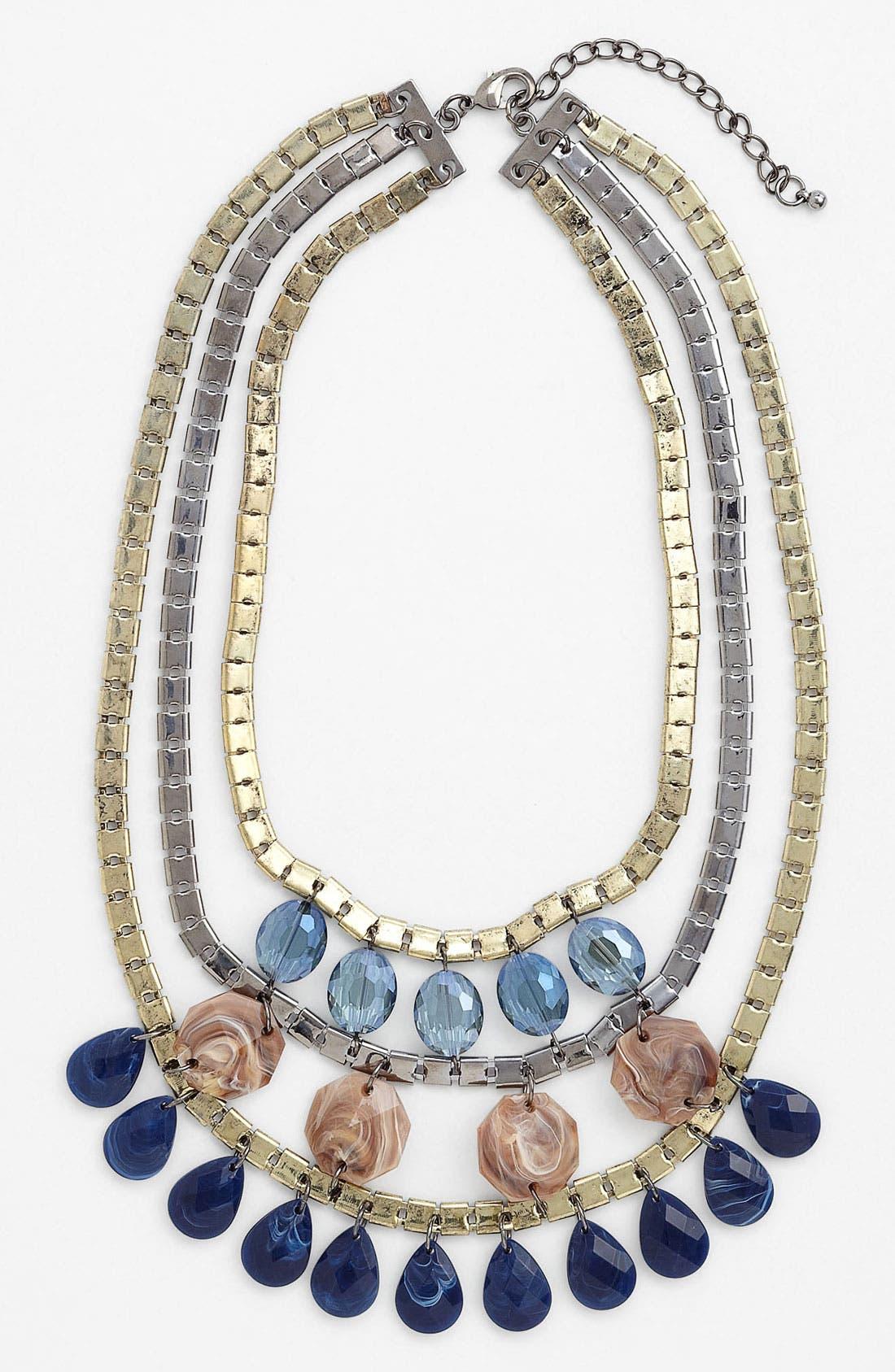Main Image - Panacea 'Blue Drops' Three Tier Necklace