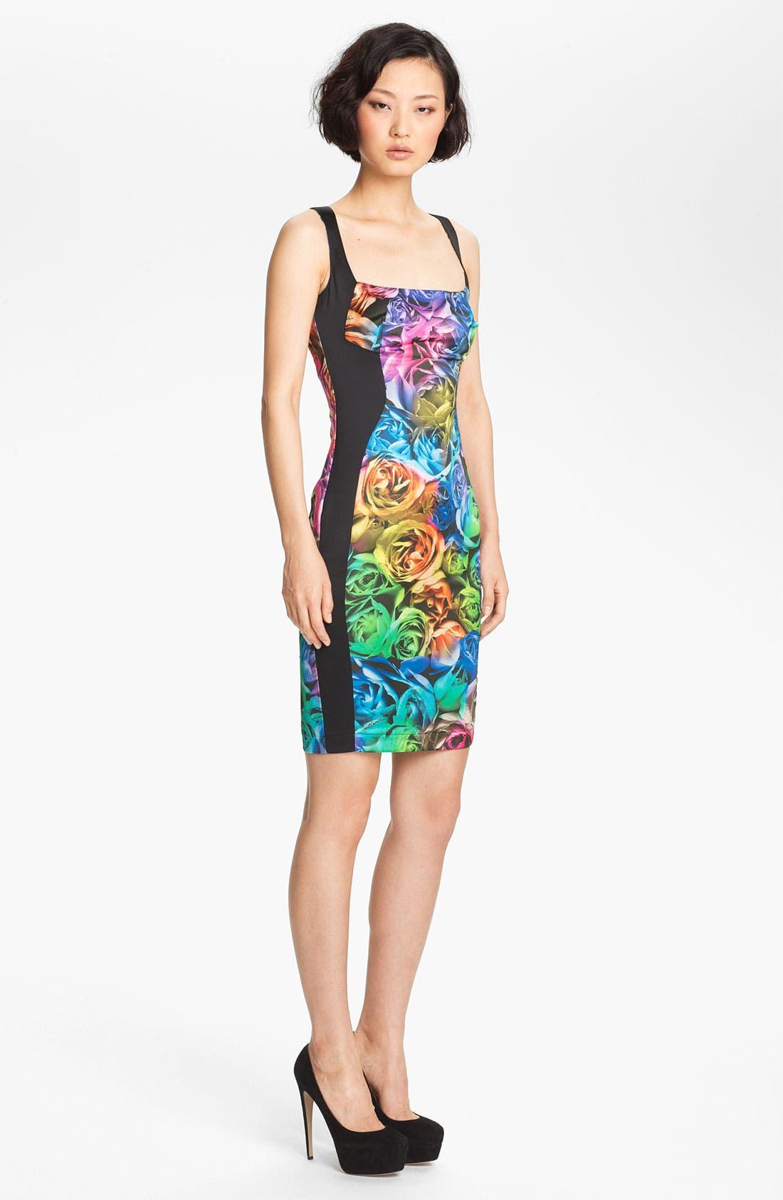 Alternate Image 3  - Just Cavalli Rose Print Sheath Dress