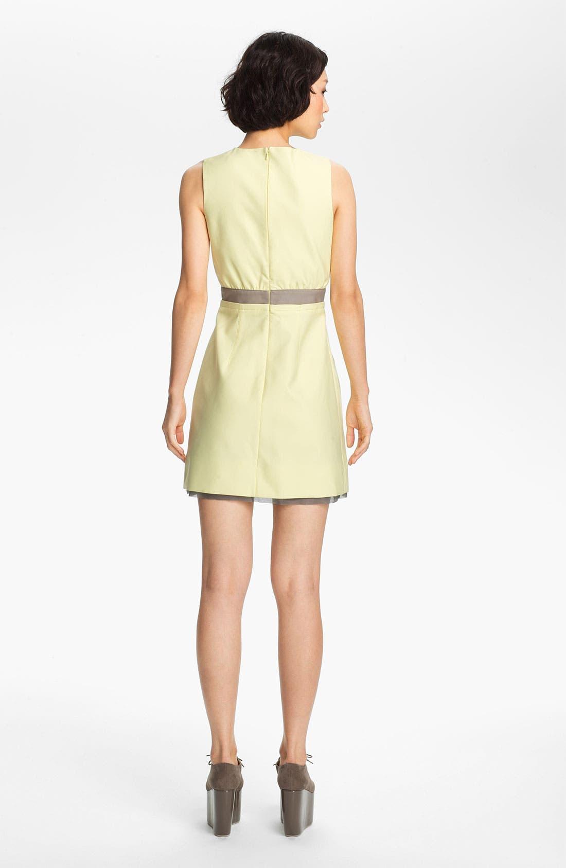Alternate Image 2  - Victoria, Victoria Beckham 'Dry Scrunch' Zip Front Dress