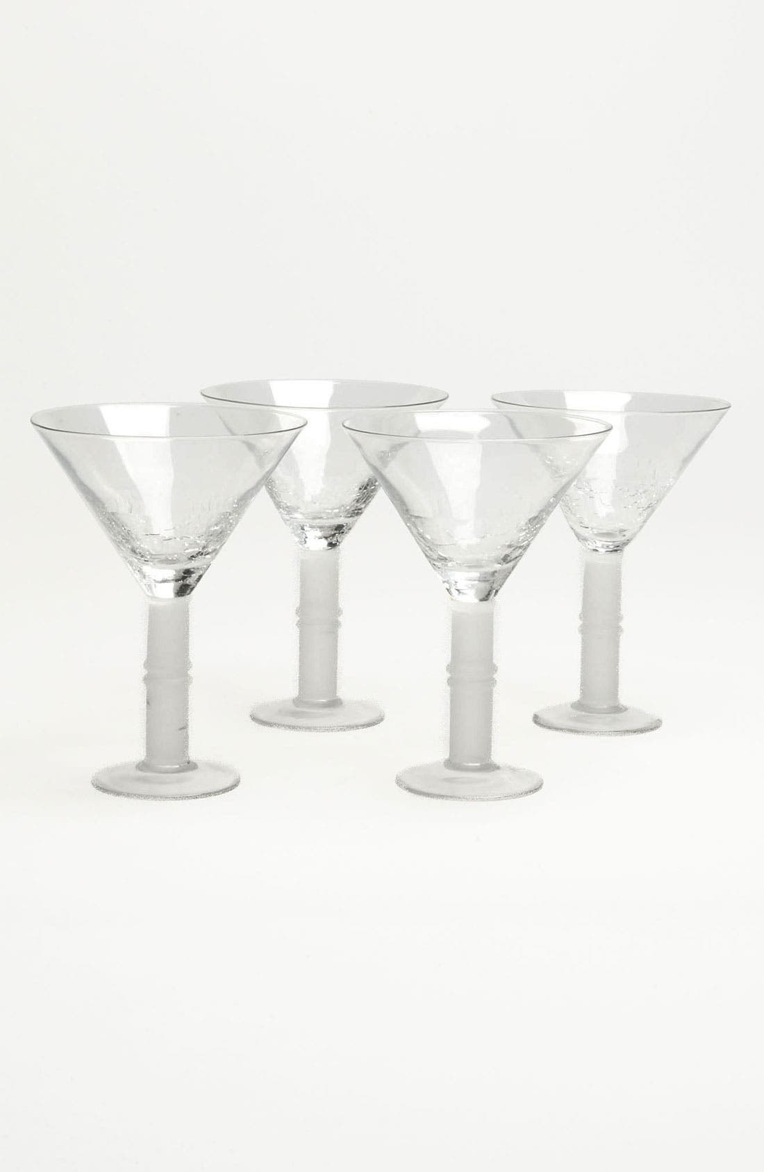Alternate Image 1 Selected - 'Crackle' Martini Glasses (Set of 4)