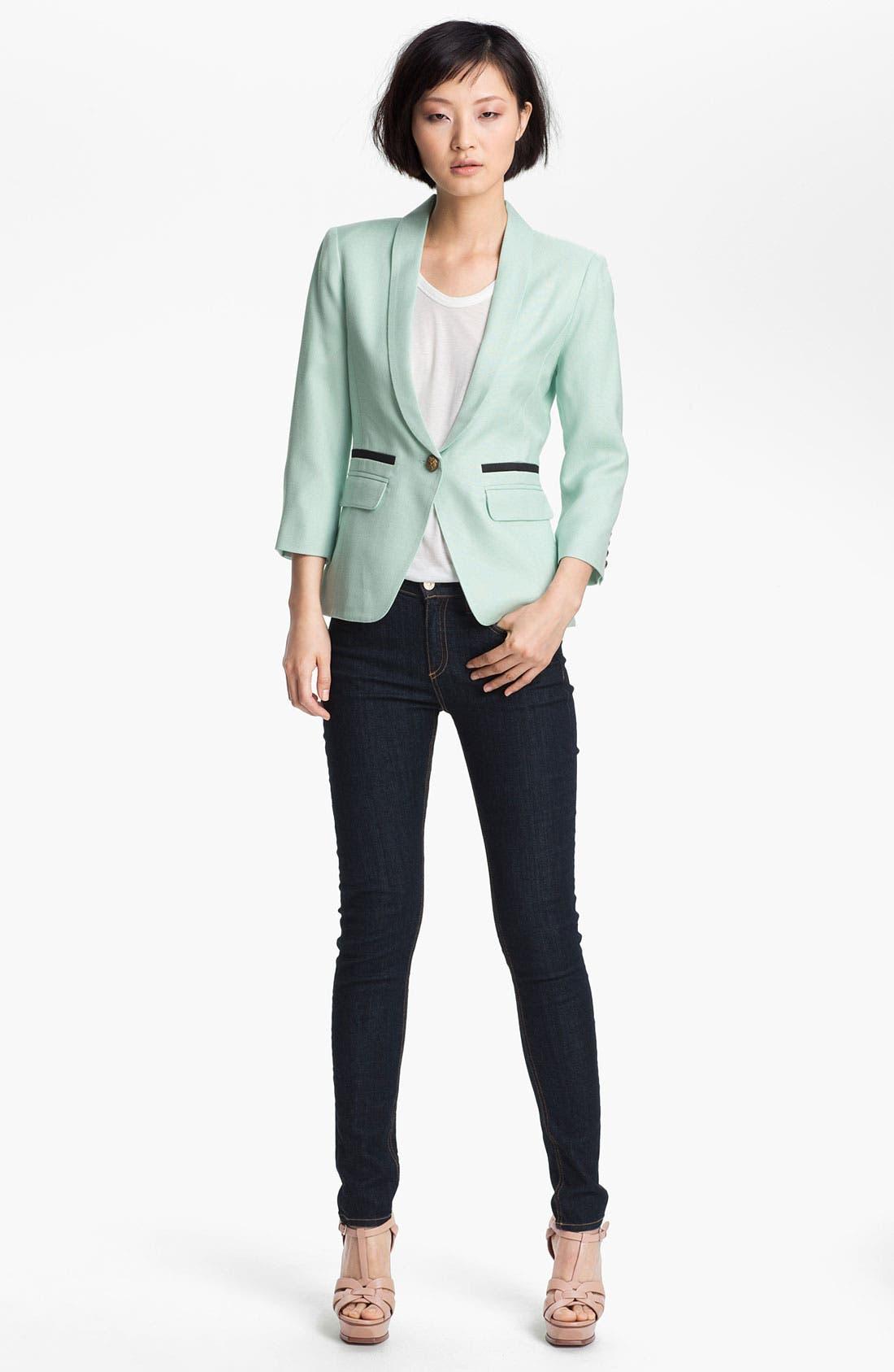 Alternate Image 1 Selected - Smythe Blazer & rag & bone/JEAN Skinny Jeans