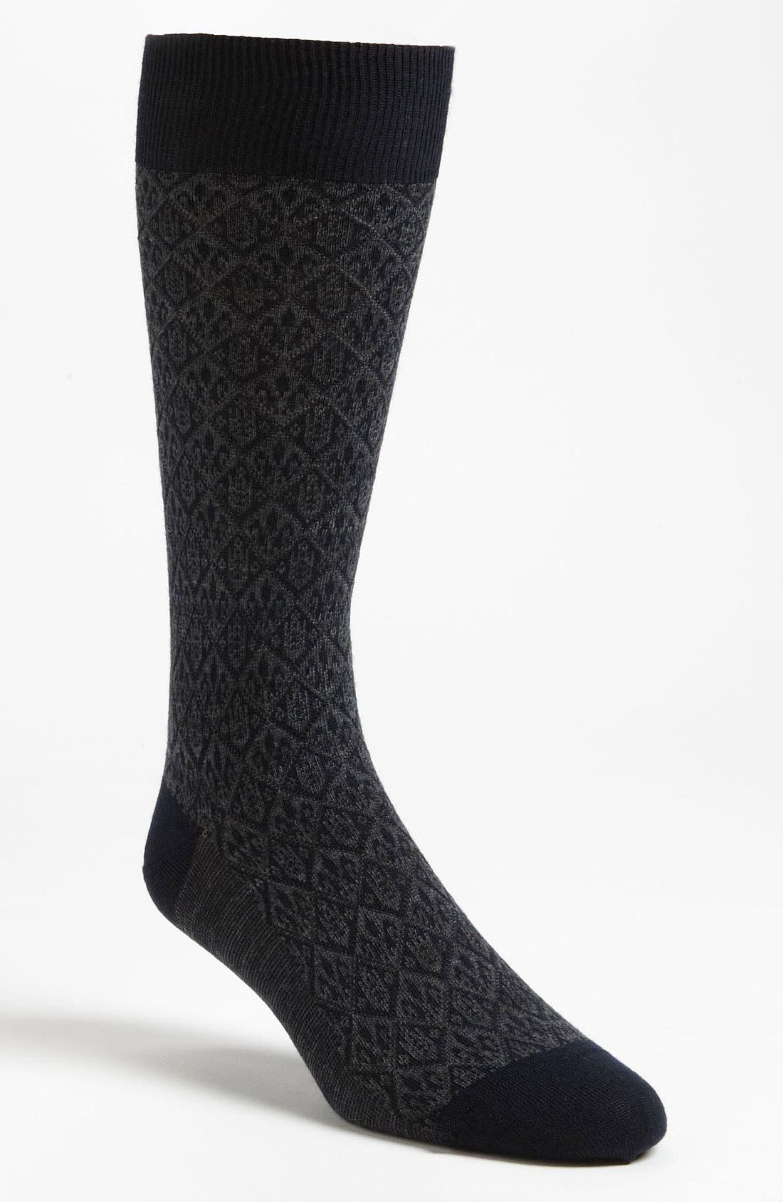 Alternate Image 1 Selected - Pantherella 'Vintage Collection' Fleur de Lis Socks