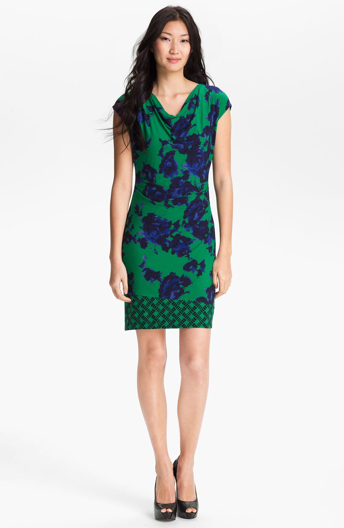 Alternate Image 1 Selected - Donna Morgan 'Georgina' Cap Sleeve Shift Dress