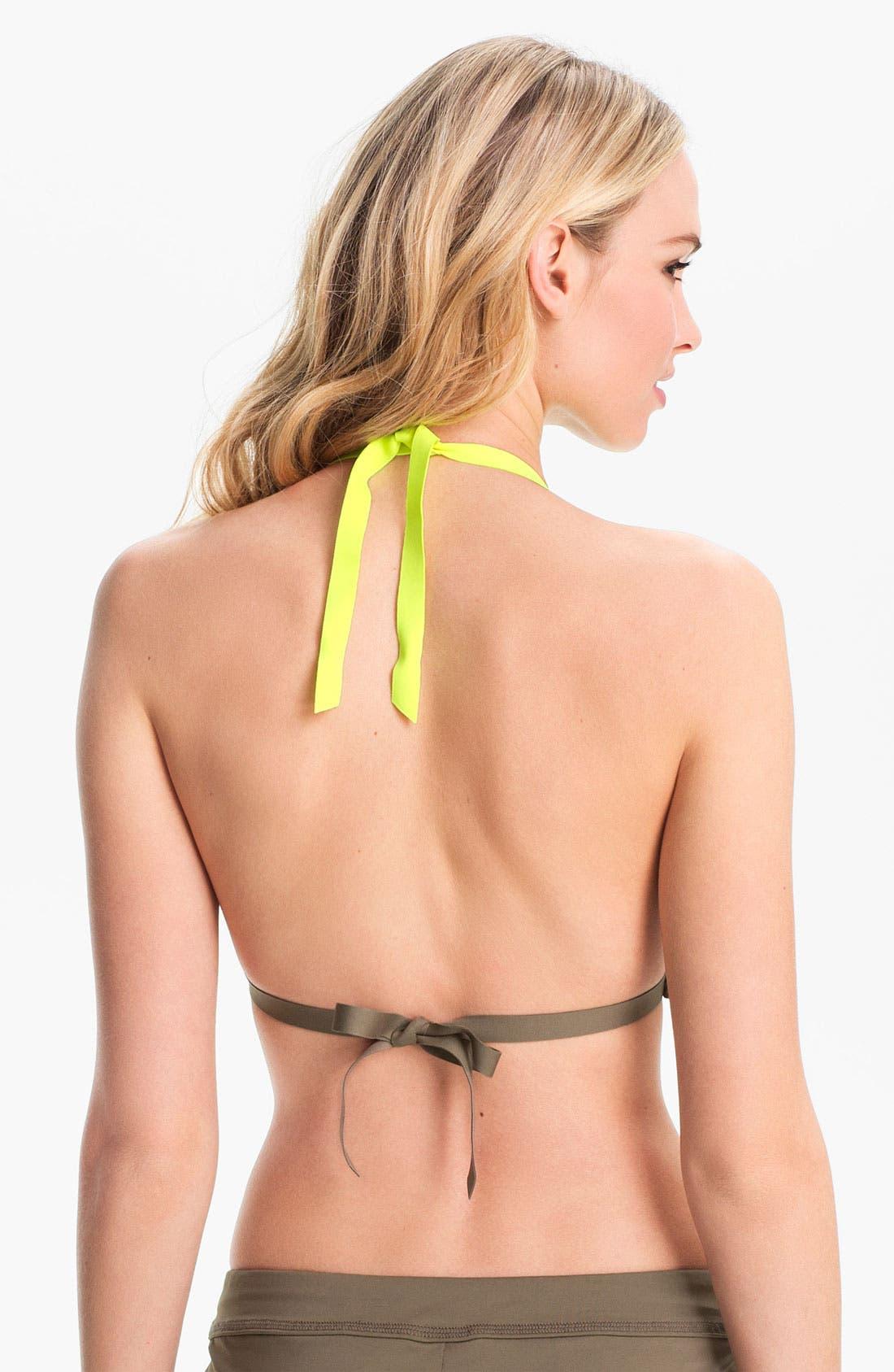 Alternate Image 2  - Nike 'Bondi' Halter Bikini Top