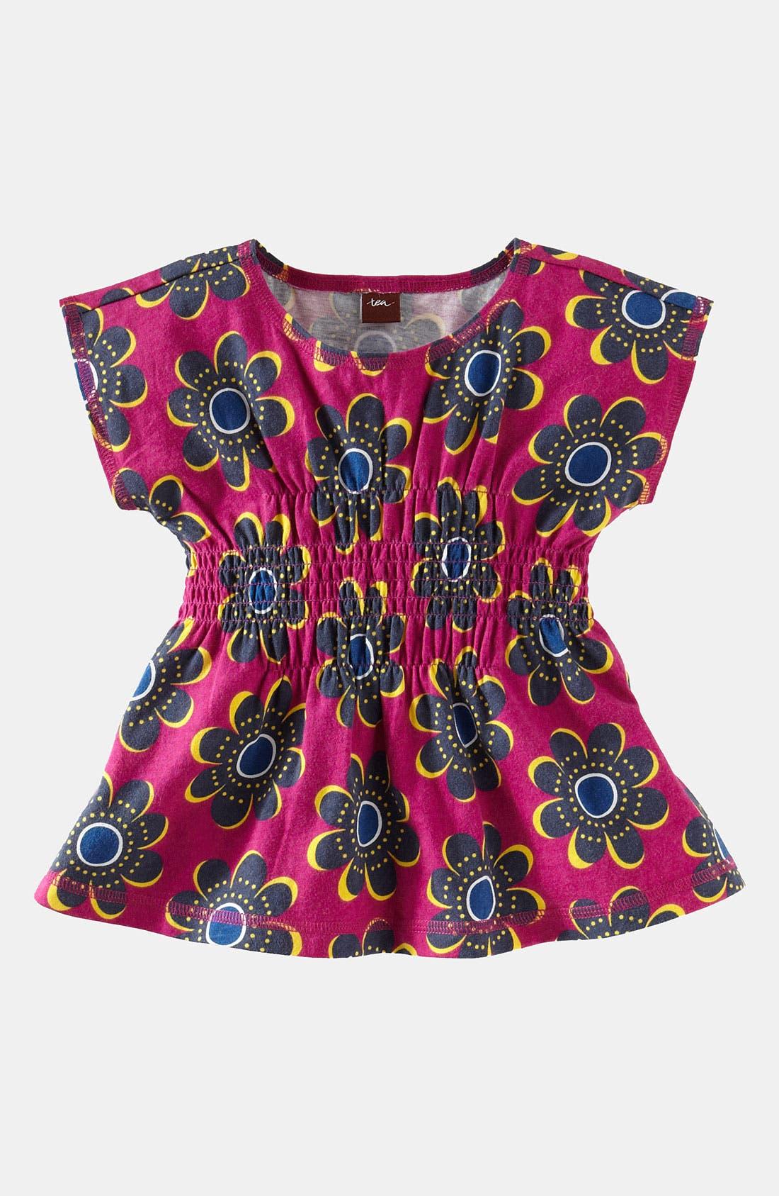 Main Image - Tea Collection 'Rosebank' Smocked Top (Toddler)