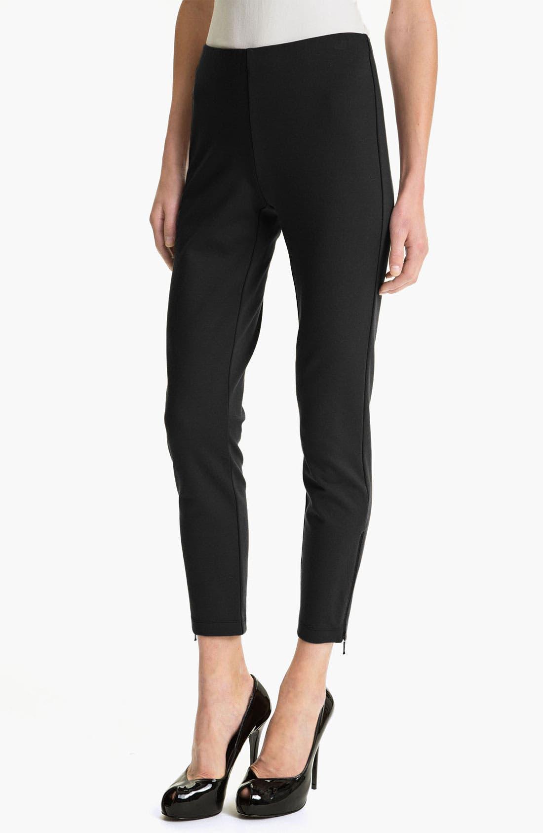 Alternate Image 1 Selected - Eileen Fisher Slim Crop Pants