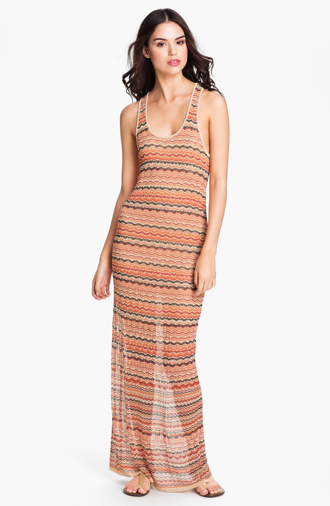 Alternate Image 1 Selected - Haute Hippie Flame Knit Racerback Maxi Dress