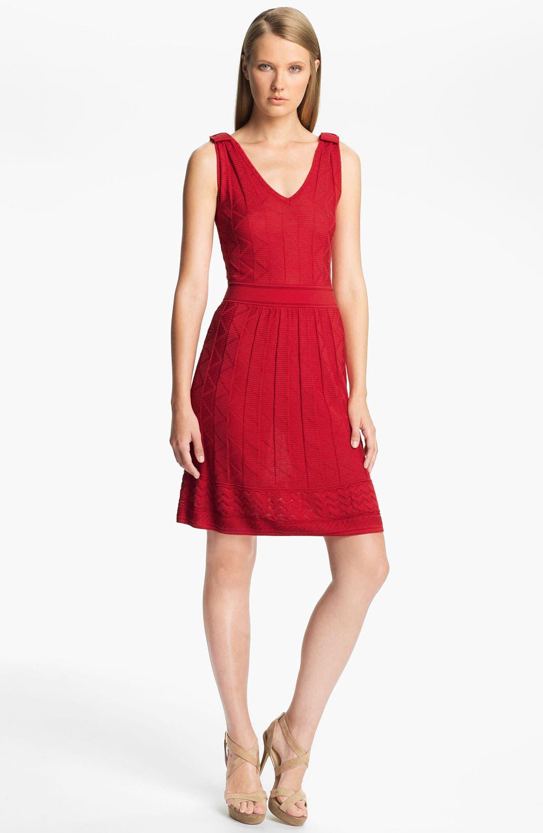 Tonal Zigzag Tank Dress,                         Main,                         color, Cherry
