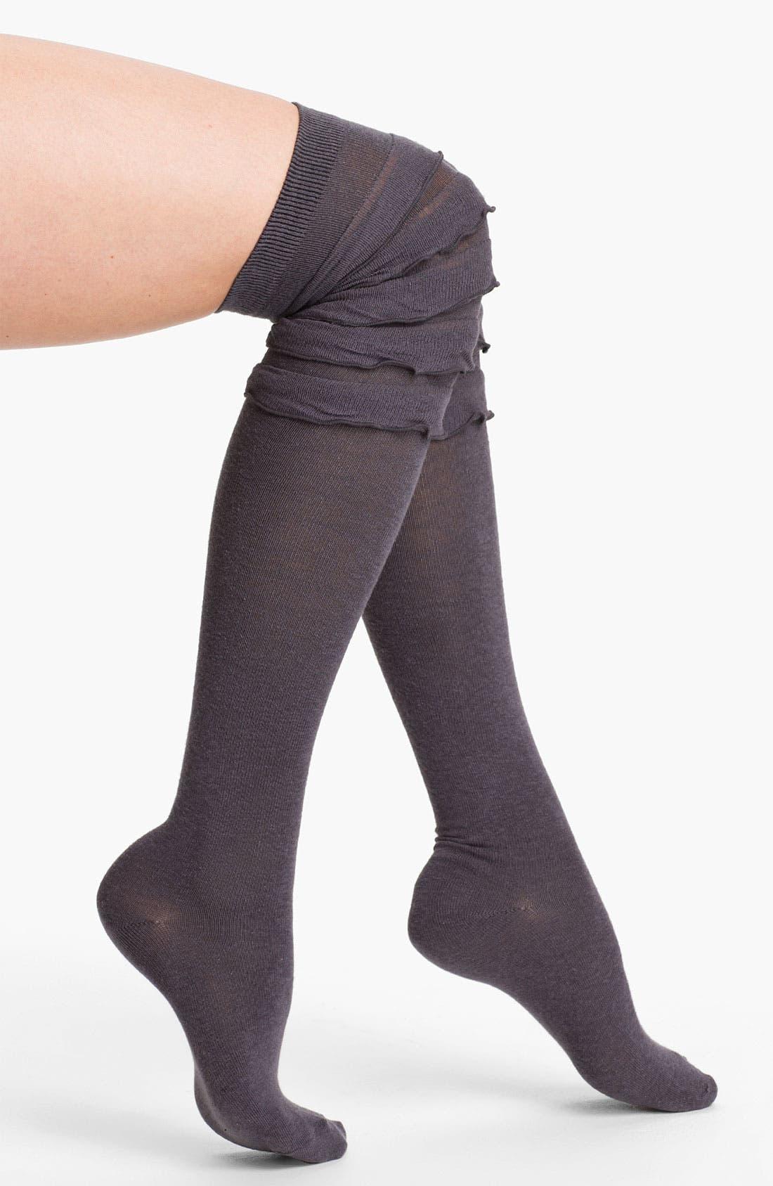 Alternate Image 1 Selected - Free People Ruffle Over-the-Knee Socks
