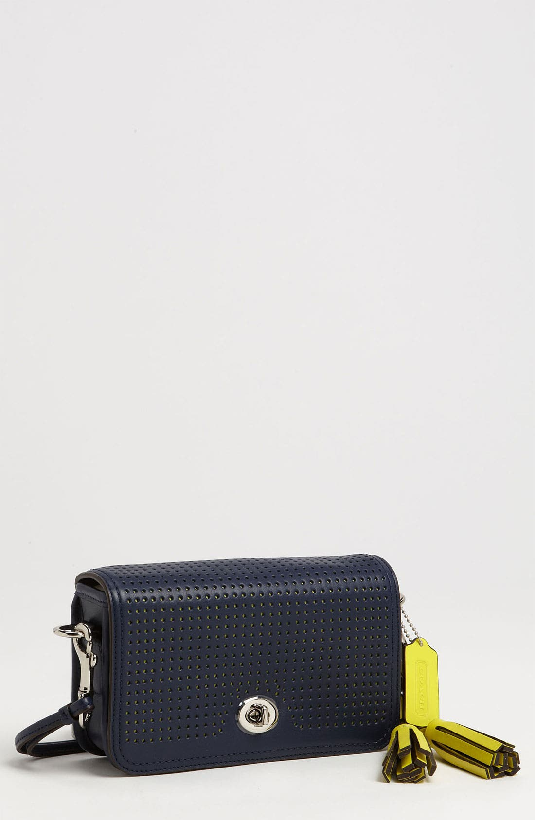 Alternate Image 1 Selected - COACH 'Legacy - Penny' Perforated Leather Crossbody Bag