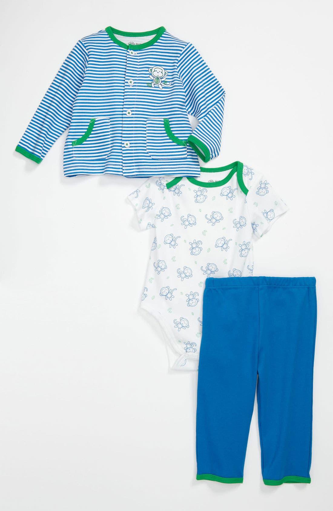 Alternate Image 1 Selected - Little Me 'Take Me Home' Bodysuit, Cardigan & Pants (Infant)